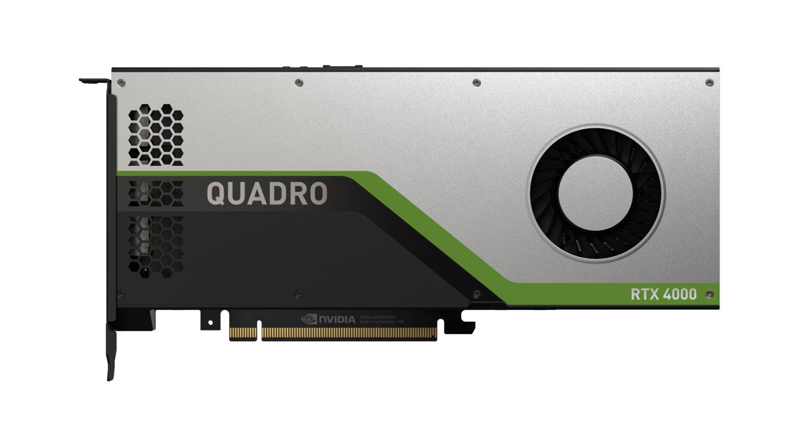 NVIDIA ra mắt Quadro RTX 4000, dòng GPU chủ đạo dành cho máy trạm