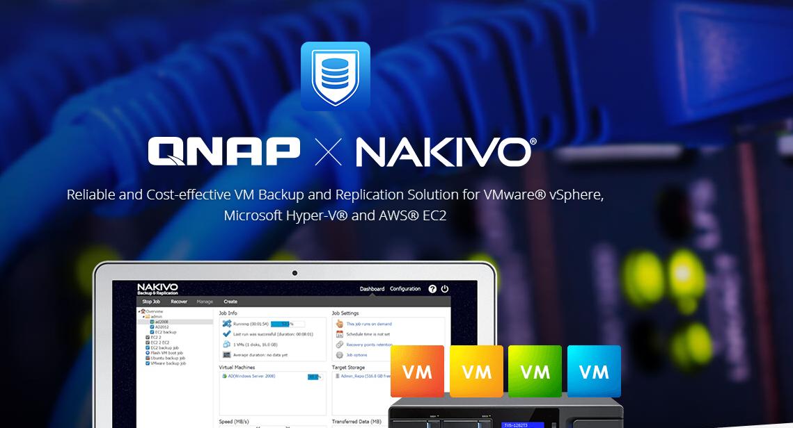 Giải pháp backup cloud lên thiết bị lưu trữ QNAP X NAKIVO