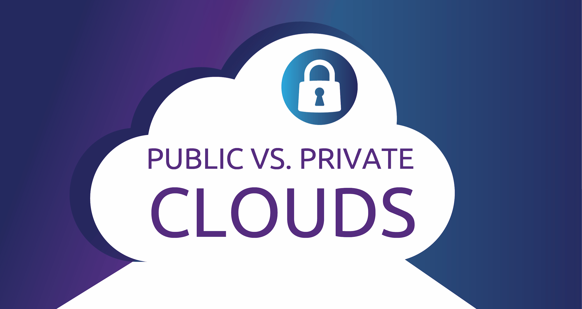 Analyze the choice of private cloud or public cloud and new trends