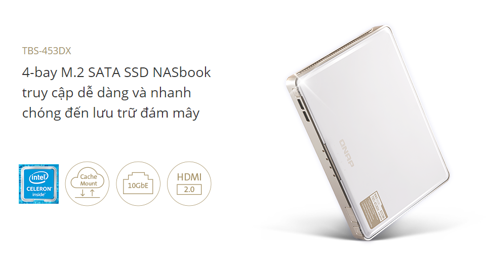 QNAP TBS-453DX M.2 SSD NASbook Is Now Available To Users