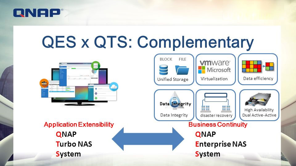 Compare the two storage management systems QNAP QES and QTS