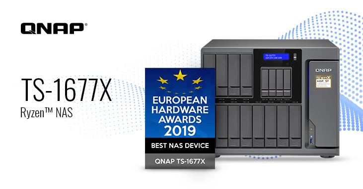 QNAP TS-1677X giành được Giải thưởng Thiết Bị NAS Tốt Nhất trong European Hardware Awards 2019