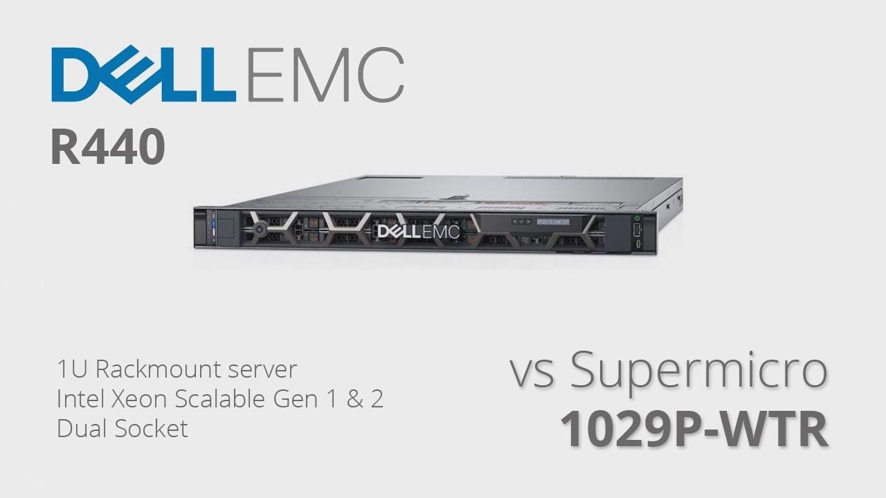 So sánh máy chủ Dell EMC R440 và Supermicro SuperServer 1029P-WTR