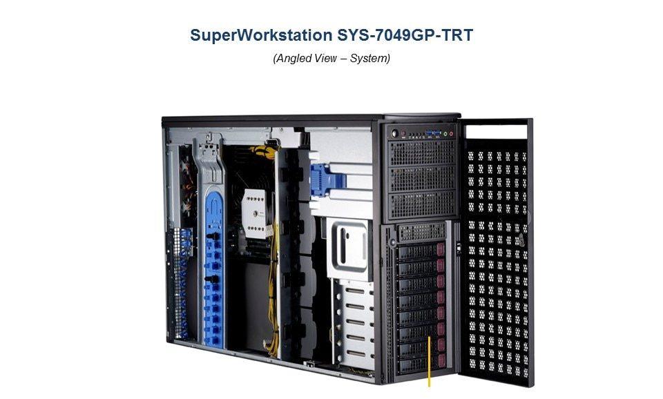 Đánh giá máy chủ Supermicro GPU SuperWorkstation 7049GP-TRT