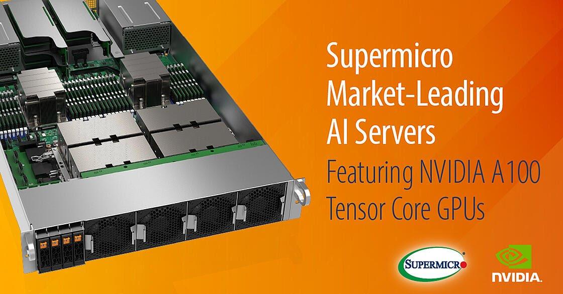 Supermicro tung ra loạt máy chủ GPU đầu tiền trang bị NVIDIA A100 Tensor Core GPU
