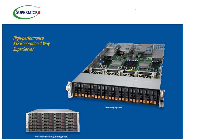 Supermicro ra mắt máy chủ multi-socket thế hệ X12 mới: hiệu suất vượt trội cho workloads lớn