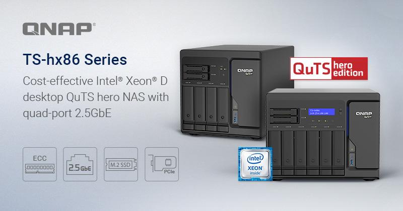 QuTS Hero TS-h86: NAS với Quad-port 2.5GbE, được thiết kế cho SnapSync thời gian thực và các ứng dụng máy ảo