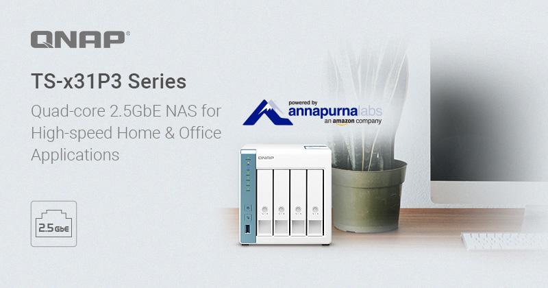 QNAP TS-x31P3 2.5GbE – Mẫu NAS tốc độ cao cho gia đình và văn phòng