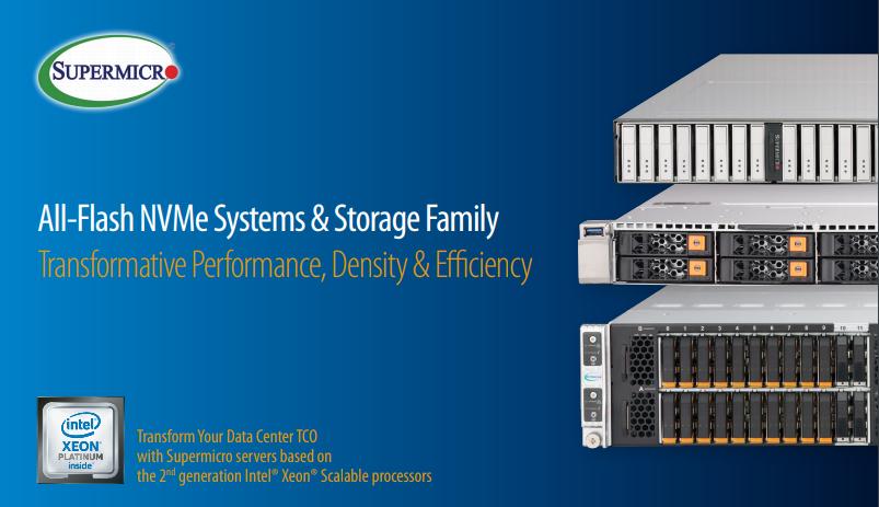 Điểm mặt các sản phẩm máy chủ lưu trữ All-Flash hiệu suất cao của Supermicro