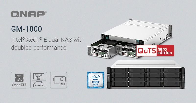 QNAP ra mắt dòng NAS GM-1000: Dòng sản phẩm QuTS Hero với thiết kế hoàn toàn mới