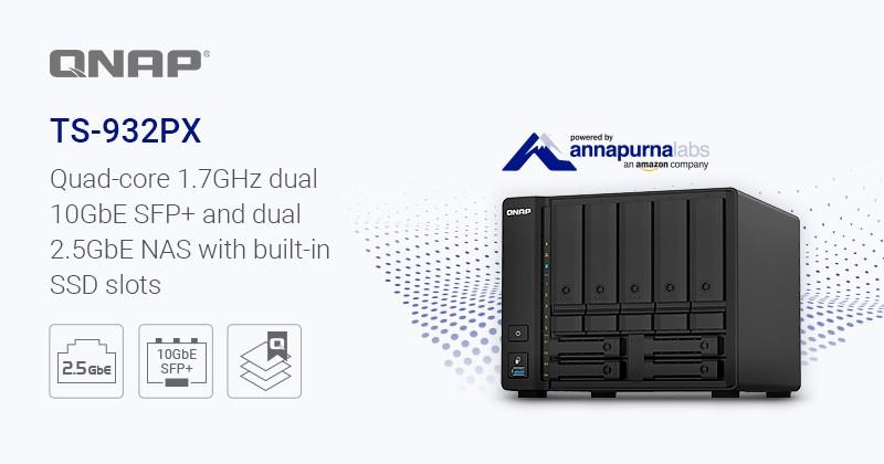 QNAP ra mắt TS-932PX: NAS 9-bay với 2 cặp cổng 10GbE SFP+ và 2,5GbE