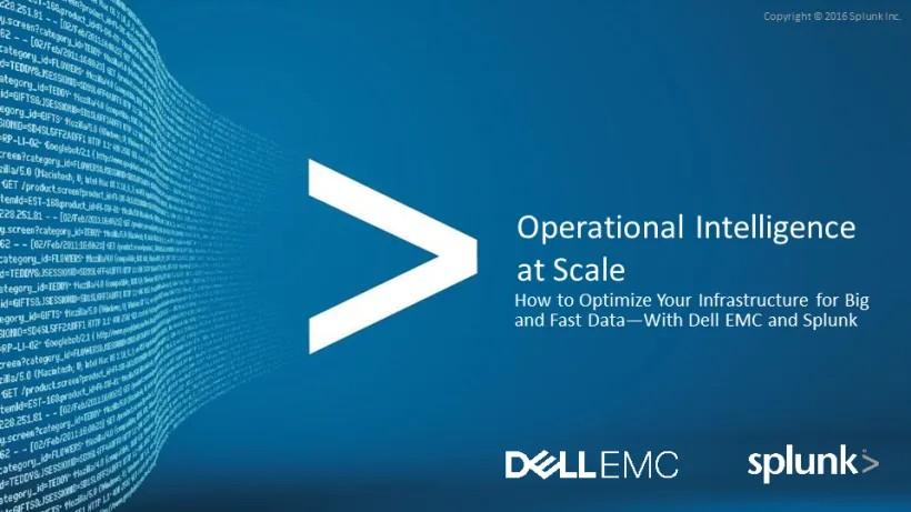 Kiến trúc hệ thống của Dell EMC sẵn sàng cho nền tảng dữ liệu Splunk