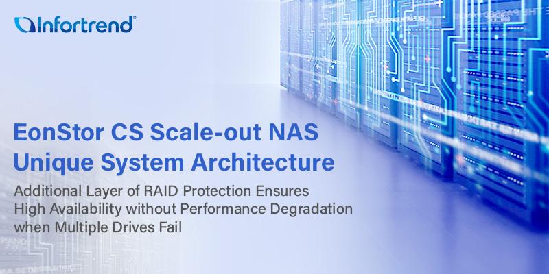 EonStor CS mở rộng quy mô kiến trúc độc đáo cho NAS