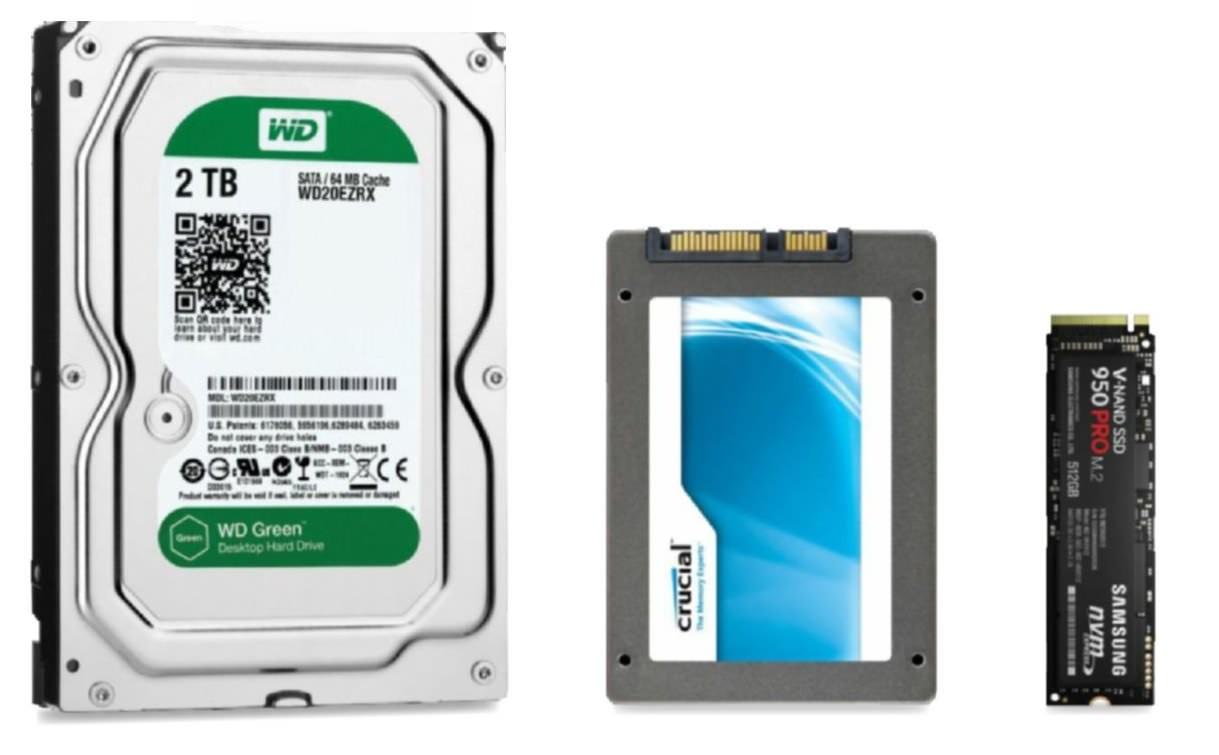 So sánh hiệu năng các loại ổ cứng HDD vs SSD vs NVMe