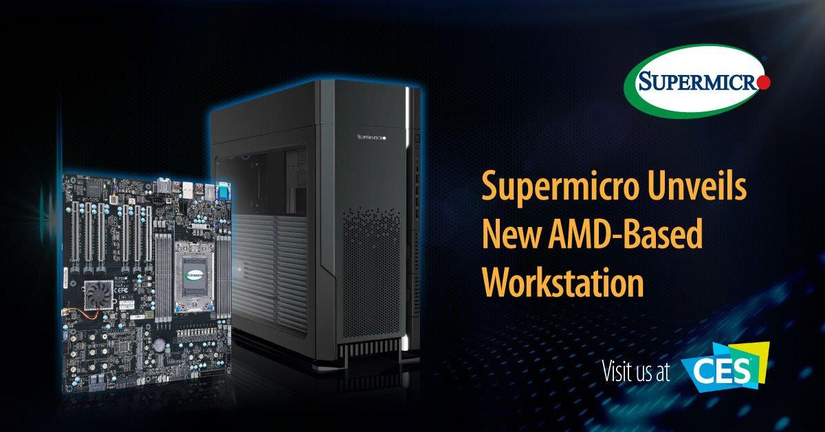 Supermicro ra mắt máy trạm với CPU AMD Ryzen Threadripper PRO đầu tiên hỗ trợ 4x GPU