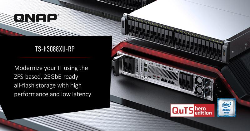 QNAP giới thiệu NAS TS-h3088XU-RP All-flash, 30-bay: Tối ưu cho File Server, Ảo hóa và DC