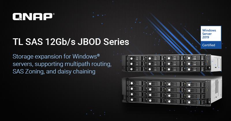 QNAP ra mắt bộ mở rộng JBOD TL SAS 12Gb/s, tối ưu hóa cho máy chủ Windows Server