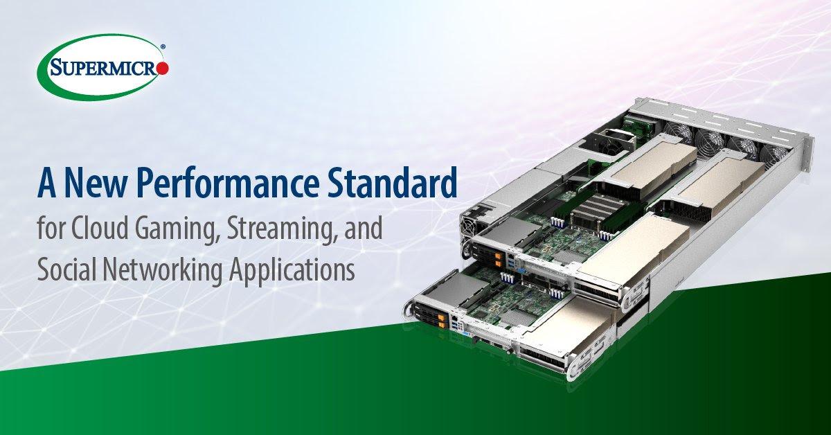 Nền tảng multi-GPU đột phá, tiết kiệm điện năng của Supermicro cung cấp hiệu suất cho streaming, AI