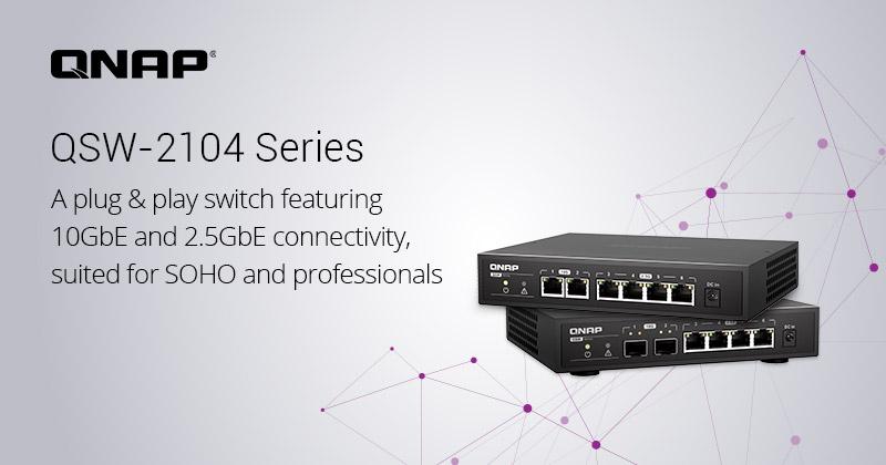 QNAP Unified 10GbE: Dòng switch tốc độ cao, nhỏ gọn, êm ái cho văn phòng, doanh nghiệp nhỏ