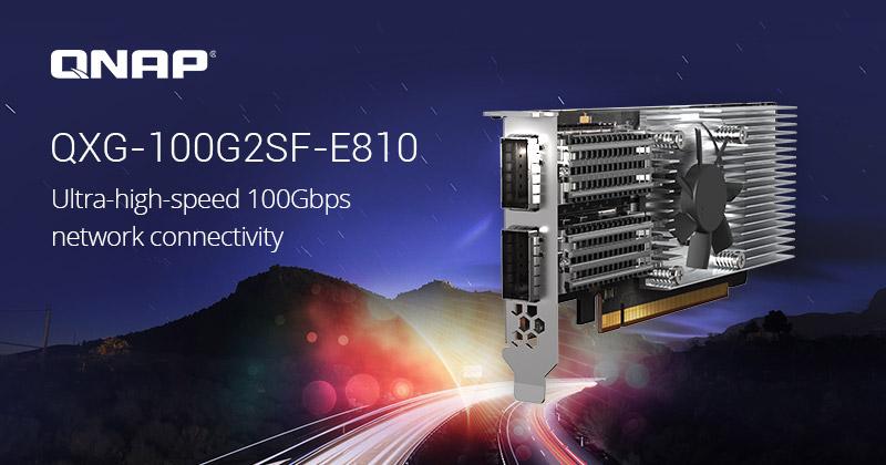 QNAP QXG-100G2SF-E810: Cung cấp mạng 100GbE cho máy chủ và NAS của bạn