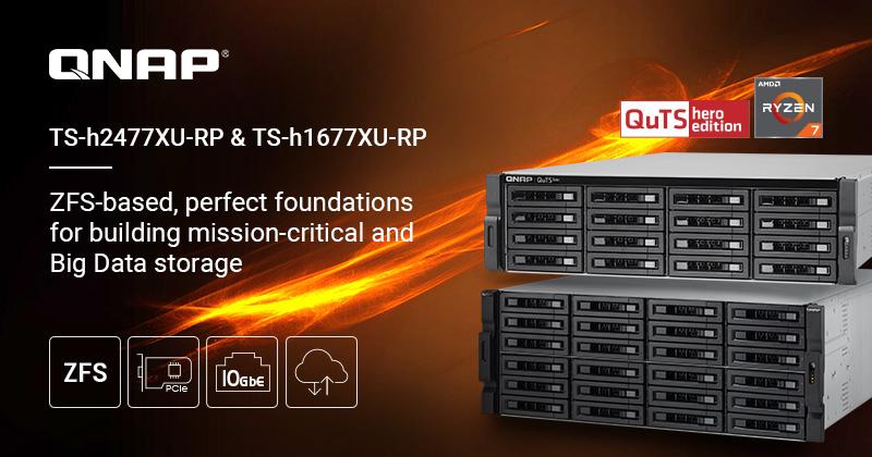 QNAP ra mắt NAS TS-h1677XU và TS-h2477XU mới: Nâng cao lưu trữ cho dòng sản phẩm TS-hx77XU