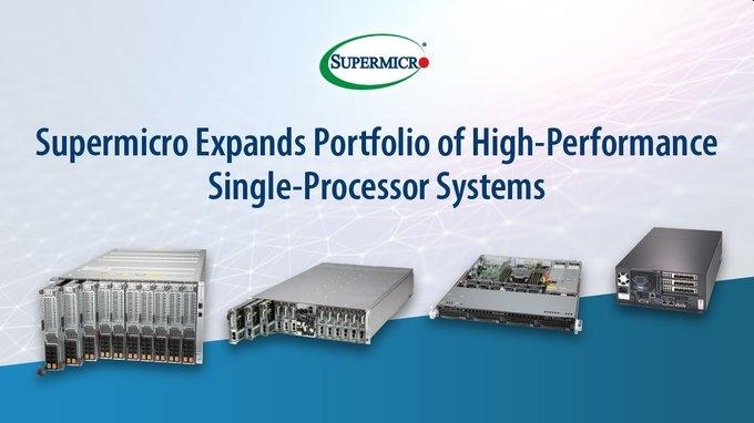 Supermicro mở rộng danh mục máy chủ Single Socket: Mạnh mẽ hơn với Intel Xeon E-2300 và Scalable Gen 3