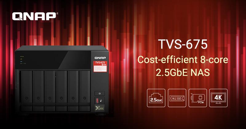 QNAP ra mắt NAS TVS-675: Mạnh mẽ với CPU Zhaoxin 8-core và 4K HDMI Display