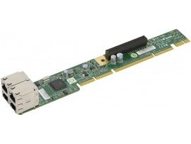 Supermicro AOC-UR-I4G / 1U Ultra Riser Card 4 GbE ports  (For Integration Only)