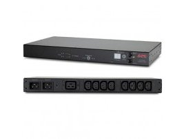 APC Rack ATS, 20A/208V, 16A/230V, C20 IN, (8)C13(1) C19 OUT AP7723