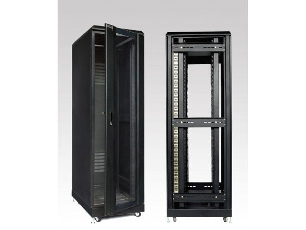 EKORACK Cabinet 42U, 2 doors, 2 fans, Depth 800mm