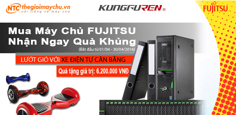 """HOT! Nhất Tiến Chung Tặng quà KHỦNG khi mua máy chủ FUJITSU RX2540M1. Xe điện tự cân bằng sản phẩm """"hiện tượng"""" trong năm 2016."""