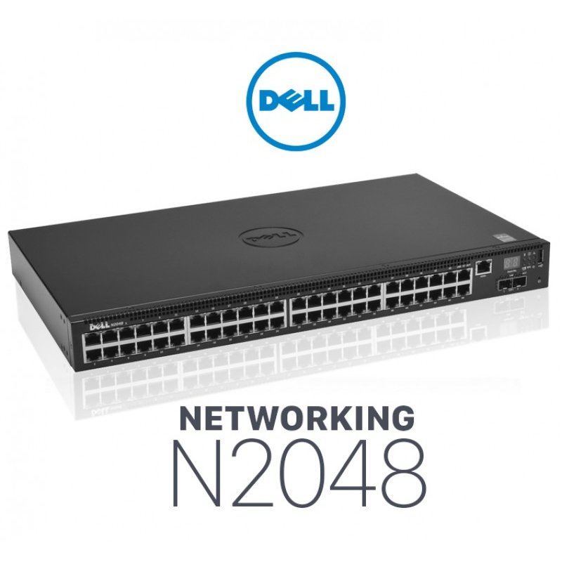Switch Dell Networking N2048, L2, 48x 1GbE + 2x 10GbE SFP+ ...