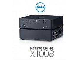 Switch Dell Networking X1008 Smart Web Managed Switch, 8x 1GbE ports, AC/POE