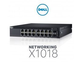 Switch Dell Networking X1018 Smart Web Managed Switch, 16x 1GbE, 2x 1GbE SFP ports