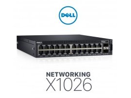 Switch Dell Networking X1026 Smart Web Managed Switch, 24x 1GbE, 2x 1GbE SFP ports