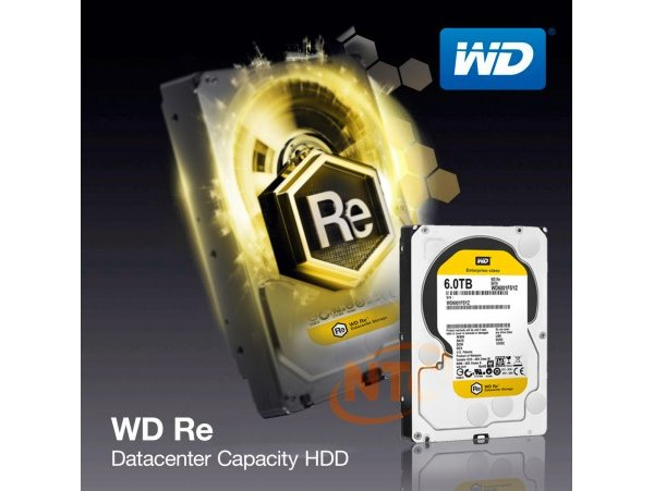 "HDD WD RE 3.5"" 6TB 7200 RPM SATA 6Gb/s 128MB , WD6001FSYZ"