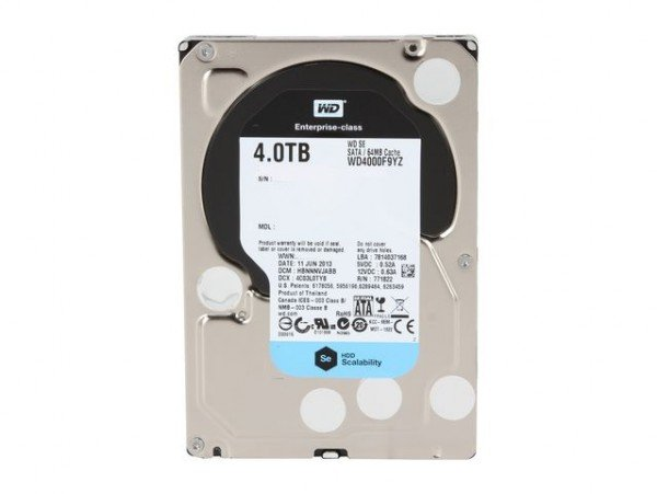 """WD SE 4TB SATA 6Gb/s 7.2K RPM 64M 3.5"""" (WD4000F9YZ)"""