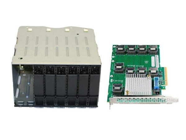 HP DL380 Gen9 Additional 8SFF Bay2 Cage/Backplane Kit + HP 12Gb SAS Expander Card