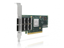 NVIDIA MCX653106A-ECAT-SP ConnectX-6 VPI Adapter Card HDR100 EDR InfiniBand and 100GbE Dual-Port QSFP56 PCIe 3.0/4.0 x16 Tall Bracket (-SP indicates Single Pack)
