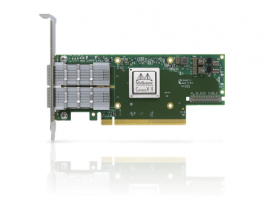NVIDIA MCX653105A-EFAT ConnectX-6 VPI Adapter Card HDR100 EDR InfiniBand and 100GbE Single-Port QSFP56 PCIe3.0/4.0 Socket Direct 2x8 in a Row Tall Bracket