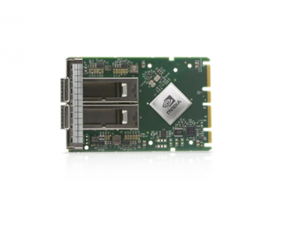 NVIDIA MCX653436A-HDAI ConnectX-6 VPI Adapter Card HDR InfiniBand and 200GbE for OCP 3.0 with Host Management Dual-Port QSFP56 PCIe4.0 x16 Internal Lock