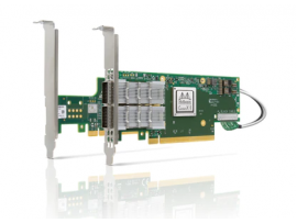 NVIDIA MCX654105A-HCAT ConnectX-6 VPI Adapter Card HDR InfiniBand and 200GbE Single-Port QSFP56 Socket Direct 2x PCIe 3.0 x16 Tall Brackets