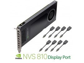 NVIDIA PNY NVS 810 4GB DDR3 PCIe 3.0 - 8x mini DP to DP, NVS810DP