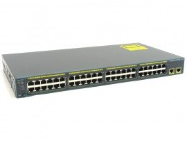 Cisco Catalyst 2960 Plus 48 10/100 + 2 T/SFP LAN Lite, WS-C2960+48PST-S