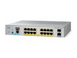 Cisco Catalyst 2960L 16 port GigE with PoE, 2 x 1G SFP, LAN Lite, WS-C2960L-16PS-LL
