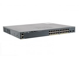 Cisco Catalyst 2960-X 24 GigE, 2 x 10G SFP+, LAN Base, WS-C2960X-24TD-L