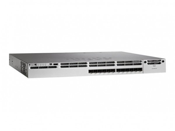 Cisco Catalyst 3850 12 Port 10G Fiber Switch IP Base, WS-C3850-12XS-S