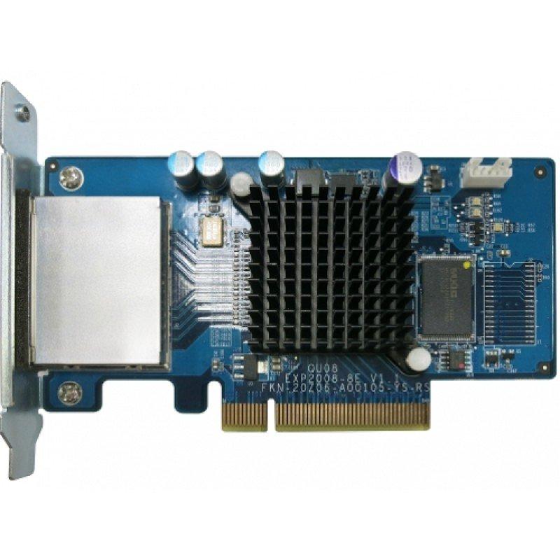 Card RAID QNAP HBA SAS 6Gbs Dual-wide-port storage expansion SAS-6G2E-D,  885022003457