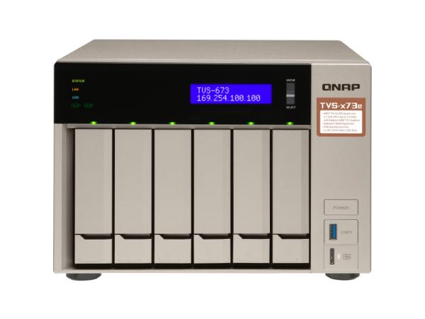 Thiết bị lưu trữ Qnap TVS-673e-4G