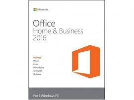 Microsoft Office 2016 Home and Business Activation Card (SFT-MS-W10PRO64)